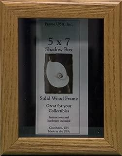 product image for Frame USA Shadow Box Showcase Series 5x7 Wood Frames (Honey)