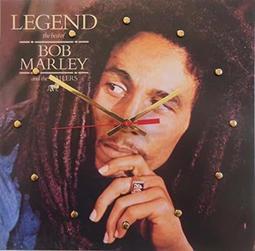 "Record Cover Wall Clock - Bob Marley (Legend). Handmade 12"" wall clock made with the original Bob Marley record cover"