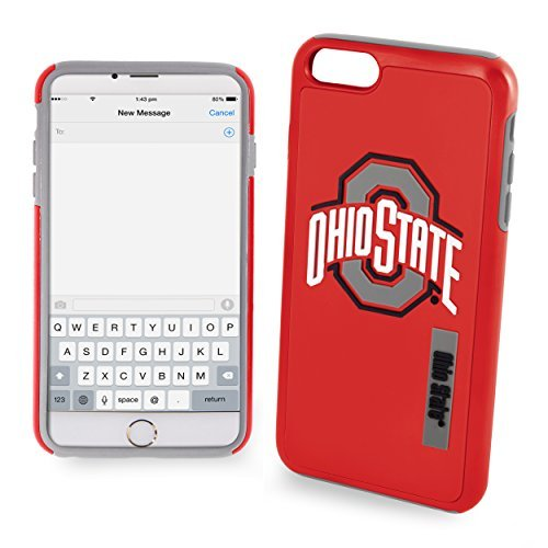 Forever NCAA Ohio State iPhone 6 Dual Hybrid Case (2 Piece), Red