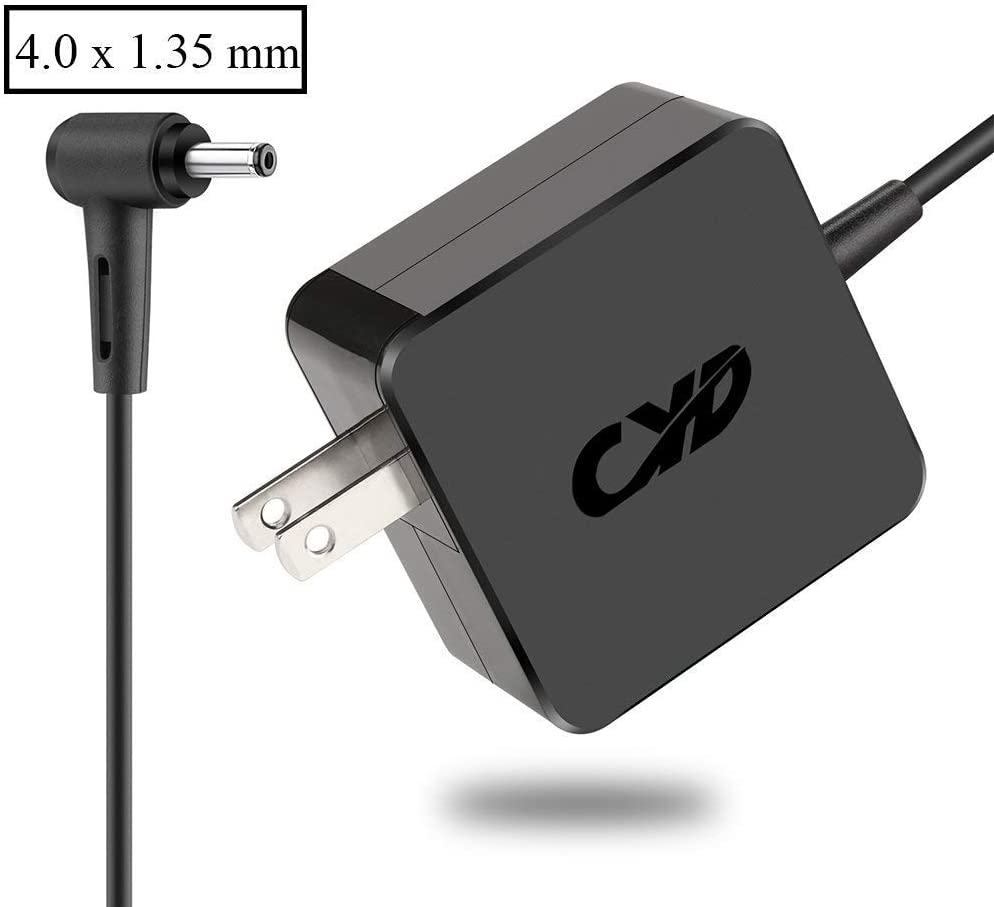 CYD 65W Replacement for Laptop-Charger Asus Ux330ua-Ah54 Q302ua-Bhi5t20 Ux330u S200e-Rhi3t73 X102ba-Bh41t X200ca-Db01t X200ca-Db02 X200ca-Hcl1104g,8.2Ft Notebook DC Adapter Cable