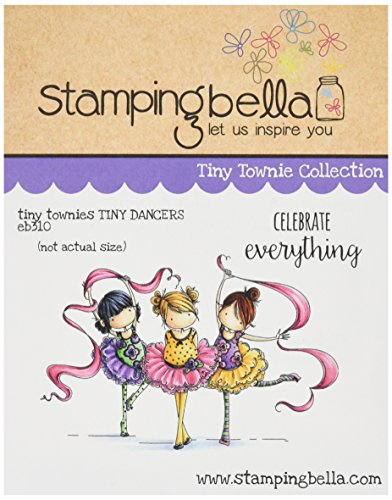 Stamping Bella Tiny Townie Dancers Lia, Zia & Pia Cling Rubber Stamp, 6.5