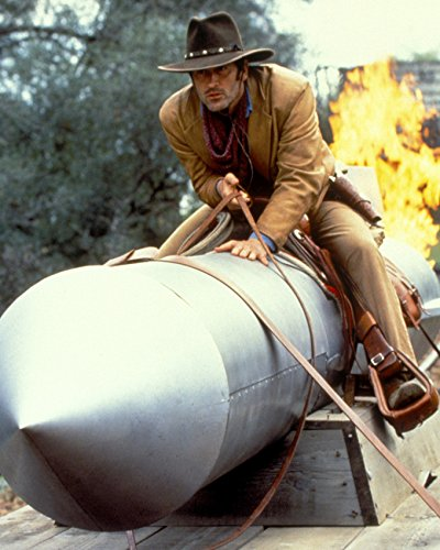 adventures-of-brisco-counry-jr-bruce-campbell-on-rocket-16x20-canvas-giclee