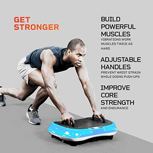 LifePro Waver Press Vibration Plate Exercise Machine | Vibrating Platform for Whole Body Fitness, Lymphatic Drainage, Weight Loss, Power Push Ups, Pressotherapy | Max User Weight 330 lb 2