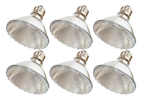Halogen Ge Track Par30 - Pack Of 6 39PAR30/NFL - 39 Watt High Output (50W Replacement) PAR30 Flood Short Neck - 120 Volt Halogen Light Bulbs