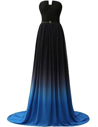 05149099a69daf Clearbridal Damen Formale Chiffon Abendkleid Farbverlauf Bandage Maxikleid  Brautjungfer Kleid SD231 UK14