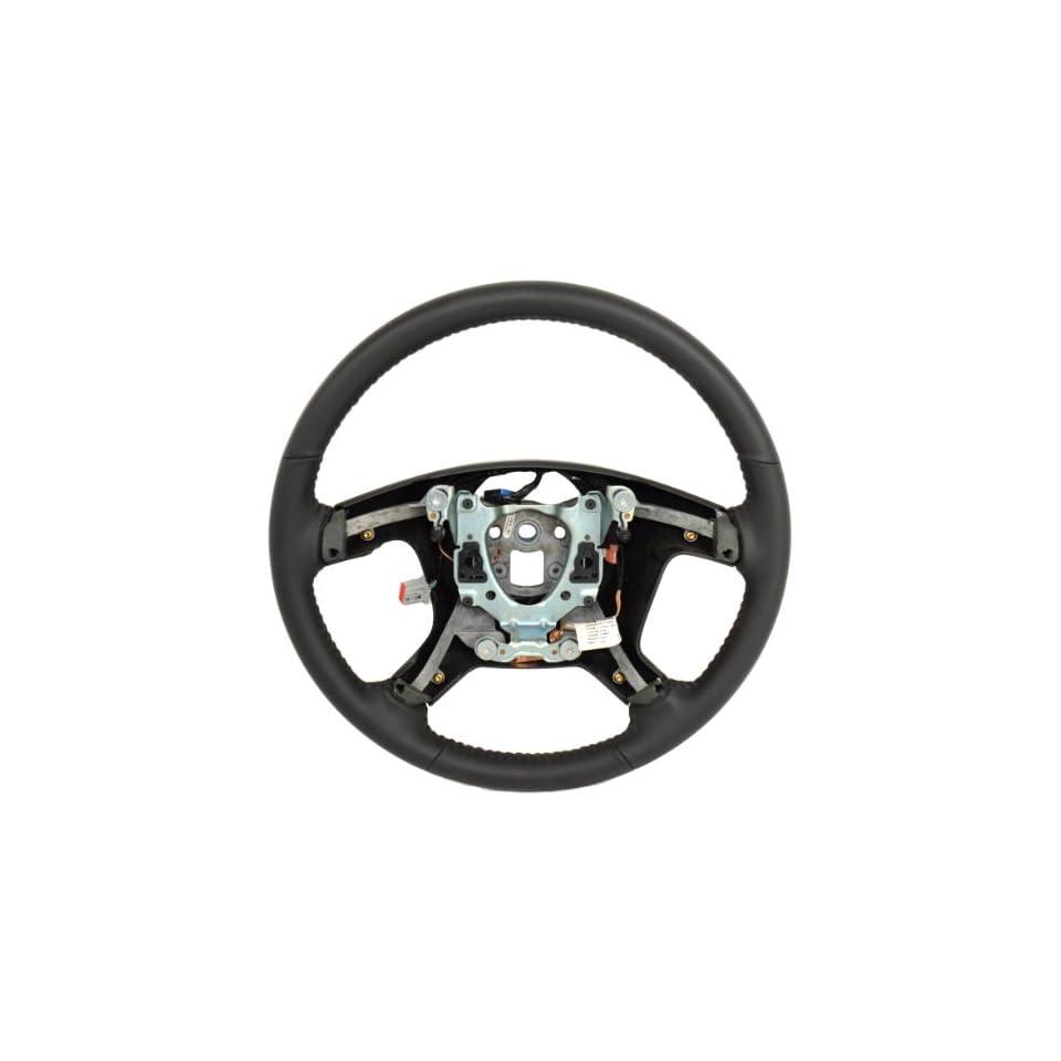 2008 13 Silverado Sierra Tahoe Yukon Black Leather Steering Wheel Base 25776310