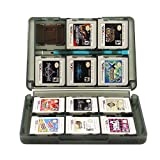 Insten 28-in-1 Game Card Case Compatible With Nintendo NEW 3DS / 3DS / DSi / DSi XL / DSi LL / DS / DS Lite, Smoke