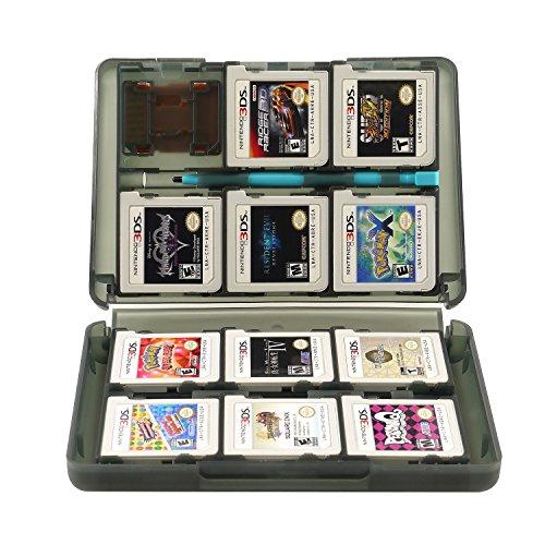 Insten 28-in-1 Game Card Case for Nintendo NEW 3DS / 3DS / DSi / DSi XL / DSi LL / DS / DS Lite Cartridge Storage Solution Box, Black