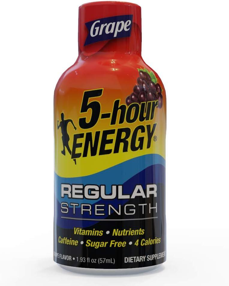 5-Hour Energy Shot, Regular Strength Grape, 1.93 oz 12 count