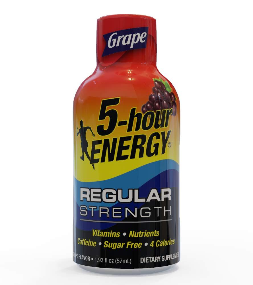 5-Hour ENERGY Shot, Regular Strength Grape, 1.93 Ounce, 24 Count by 5-Hour ENERGY (Image #1)