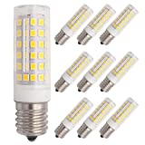 Grv E17 Led Microwave Bulb 5W AC 110V -120V 78-2835 SMD Microwave Oven Light Bulbs Dimmable 50W Equivalent Replacement Incandescent Bulb Warm White Pack of 10