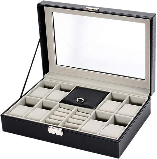 Estuche de almacenamiento de reloj de lujo Caja de reloj, 8 rejillas Reloj de pulsera de