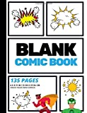 Blank Comic Book: Create Your Own Comic Strip, Blank Comic Panels, 135 Pages, Sky Blue (Large, 8.5 x 11 in.) (Action Comic...