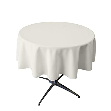 Tablecloth Small Polyester Round 36 Inch White Inch By Broward Linens