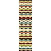 Orian Rugs Indoor/Outdoor Stripes Nik Nak Gemstone Runner 110 x 75
