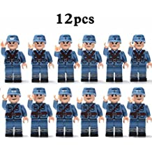 2pcs/set Military Chinese Eighth Route Army Soldiers Building Blocks Brick Toys