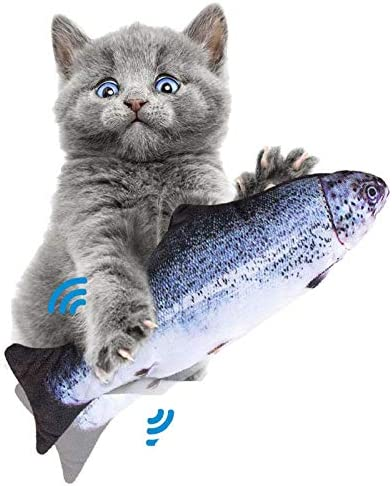 Juguete eléctrico para gato con diseño de pez que baila con sensor de movimiento 1