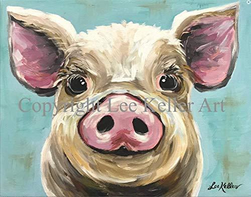 Pig art Print, Rosey', Pig Lover Gift, Rosey the Pig ()
