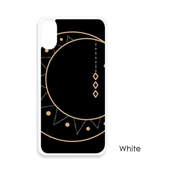 Amazon Moon Star Symbol Totem Shape For Iphone X Cases White