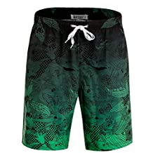 APTRO Men's Swim Trunks Colorful Board Shorts with No Mesh Lining