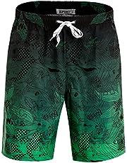 APTRO Men's Swim Trunks Quick Dry Bathing Suit Elastic Waistband Swim Shorts