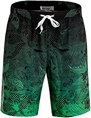 APTRO Men's Swim Trunks Quick Dry Bathing Suit Elastic Waistband Swim Sh