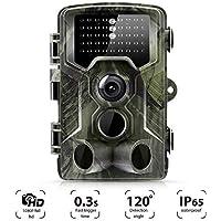 "Suntek Wildkamera 16MP 1080P Full HD Jagdkamera Infrarote 20m 42 LEDs Nachtsicht Bewegungsmelder 120 ° Weitwinkelobjektiv IP65 Wasserdicht 2.0"" LCD, Bewegungsmelder Fotofalle Trail Camera Mehrweg"