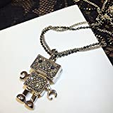 Generic sweater chain length models fashion Korean Cute _cartoon_robot_up_ decorative pendant necklace hanging chain lanyards
