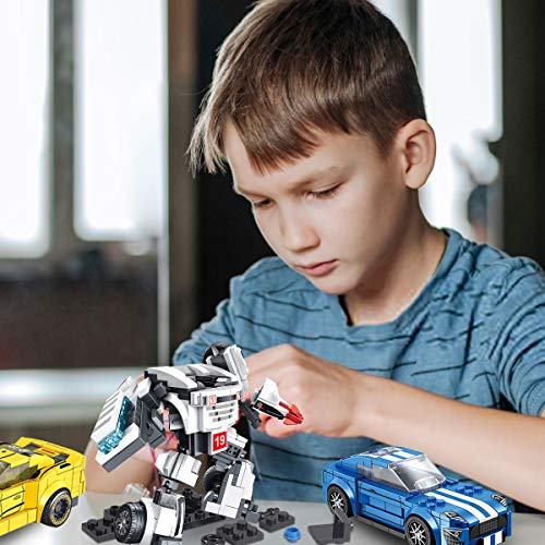 Panlos STEM Robot Educational Learning Building Bricks Toy Model Cars Set Vehicles Gifts for Kids Boys and Girls Tight Fit and Compatible with All Major Brands 898PCS