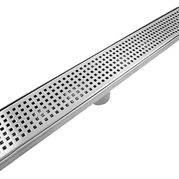 LINEAR SHOWER DRAIN STANDARD GRATE WITH FREE LINEAR DRAIN - Bathroom drain
