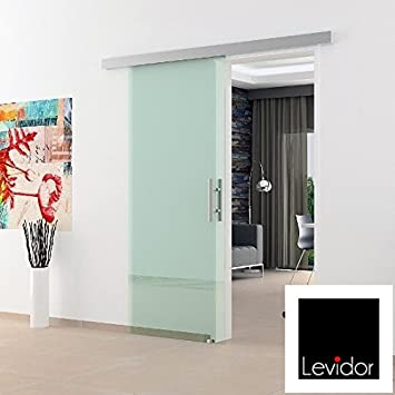 Glasschiebetur 1025x2050 Mm Klarglas Levidor Basic System Komplett