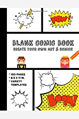 Blank Comic Book: Create Your Own Art and Comics Paperback