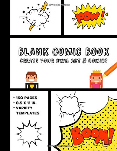 Blank Comic Book: Create Your Own Art and Comics pdf