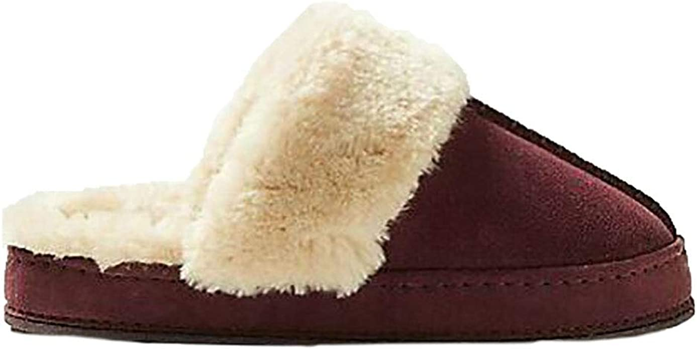 Spencer Berry Real Suede Mule Slippers