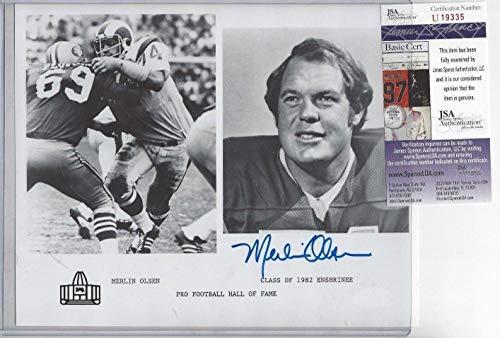 - Merlin Olsen NFL Football Hof Autographed Signed 8x10 Photo - JSA Authentic Memorabilia La Rams Dec 2010