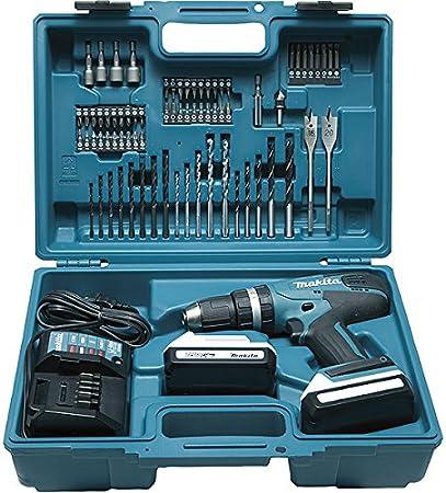 Makita HP457DWE10 Perceuse visseuse à percussion, 2 x 18 V 1,5Ah avec les accessoires