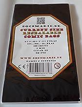 "docsmagic.de 100 Resealable Current Size Comic Book Bags 6-7/8""x 10-1/2""+ 1-1/2""Flap- 2 Mil - Auto-Adhesivas Bolsas Protectoras"