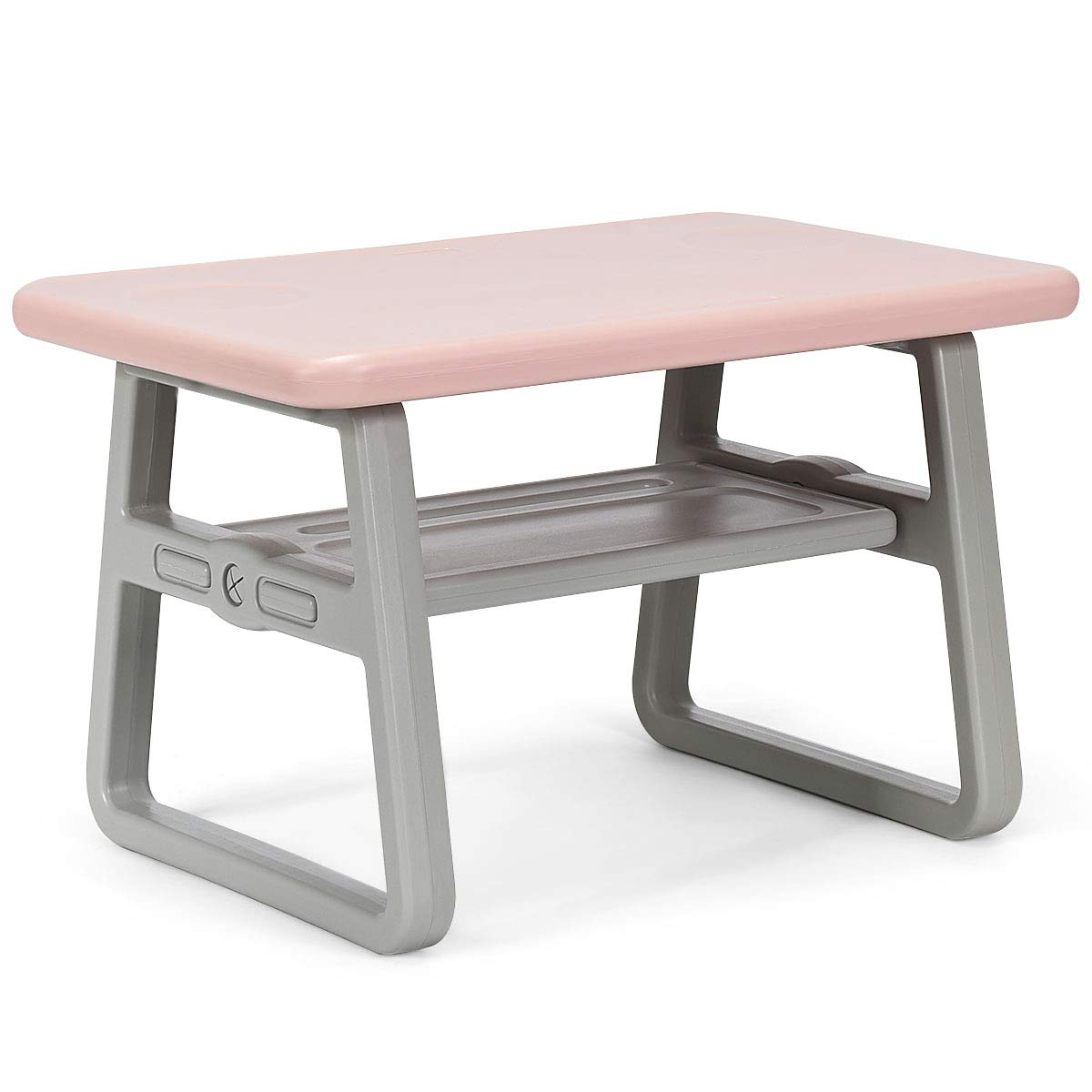 Costzon 3 Piece Kids Table and 2 Chairs Set, Learning Activity Play Table, Baby Dining Table, Children Desk Chair for 1-3 Years, Kids Furniture Set (Pink) by Costzon (Image #5)
