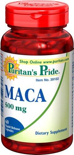 Puritan Pride Maca 500 mg / 60 Rapid Release Capsules