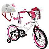 Hello Kitty 18'' Steel White Frame Bicycle Outdoor Sports Kids Bike for Girls with Helmet