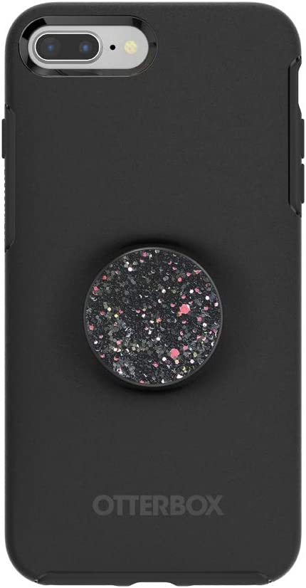 Otter + Pop for iPhone 7+ and 8+: OtterBox Symmetry Series Case with PopSockets Swappable PopTop - Black and Sparkle Black