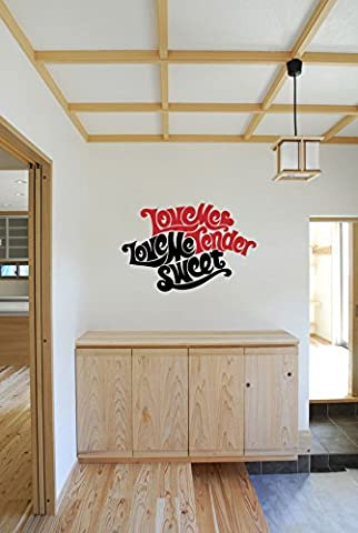 Love Me Tender Love Me Sweet Elvis Presley Quote Vinyl Wall Words Decal Sticker Graphic (Country Lyrics Sticker)