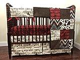Western Nursery Bedding Set Cord, Boy Baby Bedding, Cowboy Crib Bedding, Crib Rail Cover, 1-6 pieces