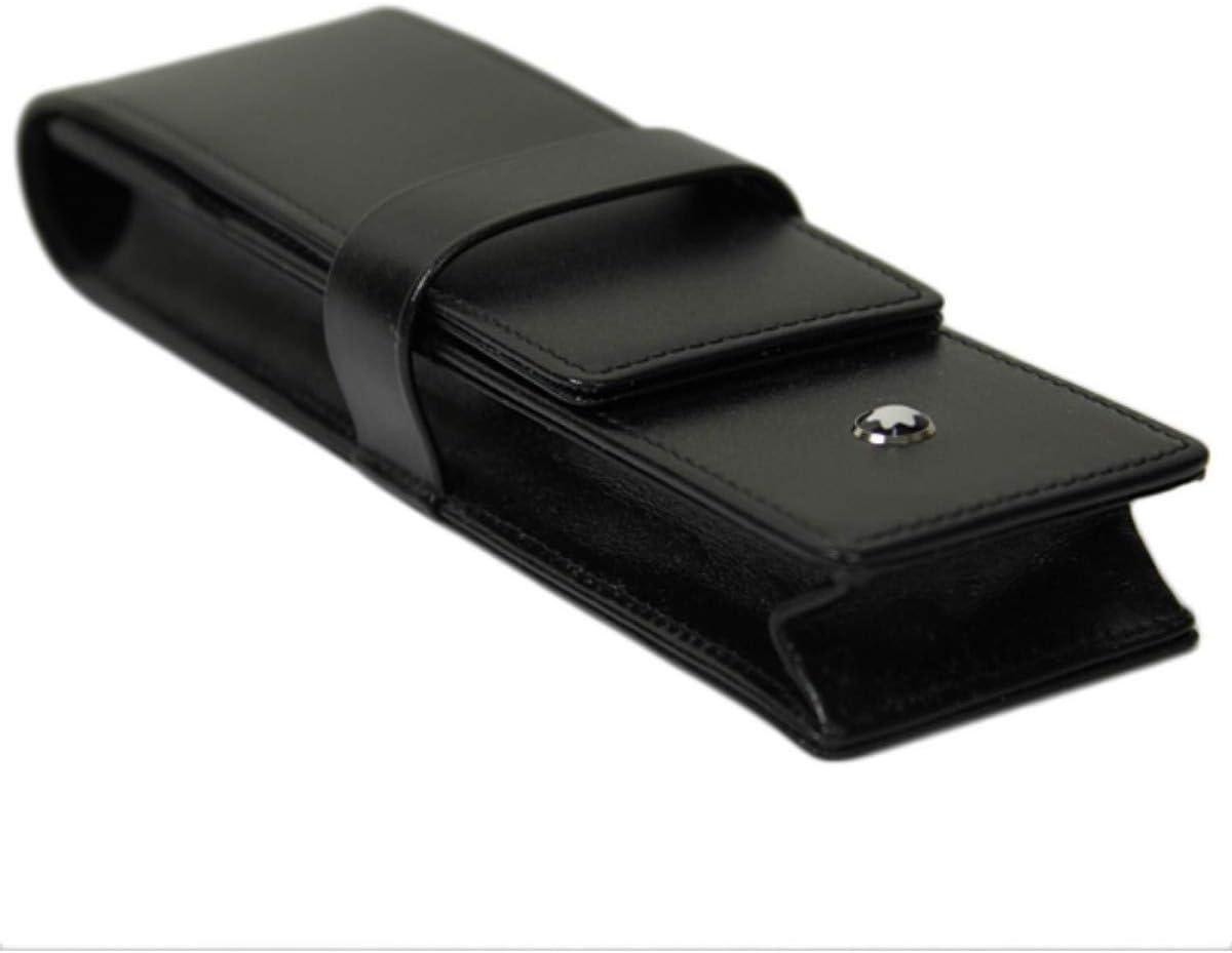Montblanc Leather 14311 - Funda para bolíigrafo, color negro