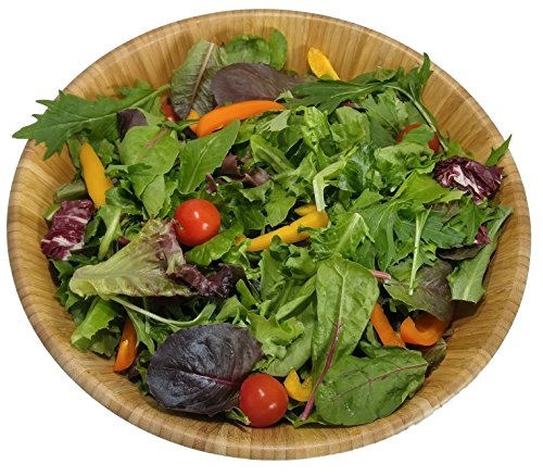 Large salad bowl. Mixing bowls. Bamboo bowl with serving spoons and dressing tray. Serving bowls. Prep bowls. Fruit bowl. Mixing bowl set. Wooden basket. Salad bowl set. by PremiumPresents (Image #2)