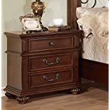 Furniture of America CM7811N Landaluce Antique Dark Oak Nightstand