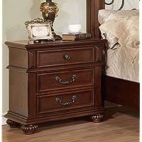 Furniture of America CM7811N Landaluce Antique Dark Oak Nightstand