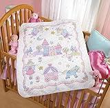 Bucilla Stamped Cross Stitch Crib Cover Kit, 34 by 43-Inch, 45326 Princess