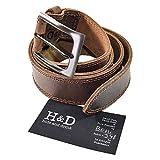 Hide & Drink Men's Two Row Stitch Leather Belt