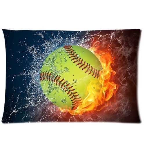 Softball World Series Designed Pillowcase Personalized Pillow Cover Standard Size ()